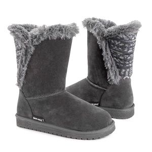 Muk Luks Dark Gray Wrap Boot